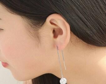 Women's Zircon Topaz Gemstones 925 Sterling Silver Drop Dangle Chain Earrings