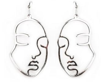 Urban Lightweight Face Shape Earrings