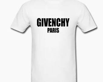 white Givenchy paris logo tee