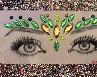 Serpent festival face jewels