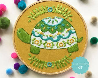 Turtle Embroidery Kit
