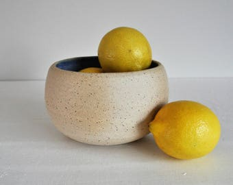 Handmade Speckled Blue Bowl