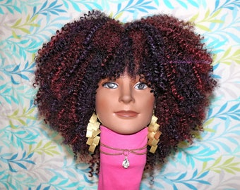"""READY TO SHIP //Synthetic crochet wig """"Autumn's Passion"""""""