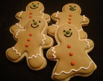 Gingerbread boys and girls | Custom Decorated Christmas cookies | Gingerbread Sugar Cookie