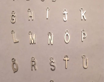 Alphabet letter charms