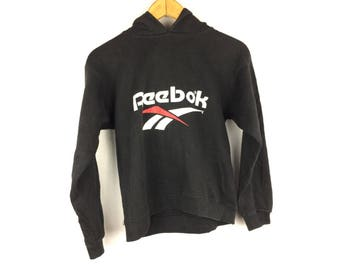 REEBOK Hoodies Medium Size Hoodies With Big Spell Out Logo Made in USA