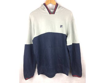 FILA Long Sleeve Hoodies With Small Embroidered Logo Hoodies LL Size