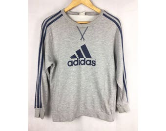 ADIDAS Long Sleeve Sweatshirt Saiz 150 or Small Size With Big Spell Out Logo