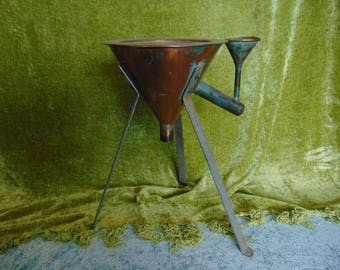 Antique copper funnel probably for chemistry or distilling