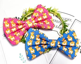 Corgi Butt Dog Bow Tie, Custom Personalized Cat   PetBow Tie, Velcro BowTies, Pet Collar, Bow Tie, Dog Accessories, Bandana, Shiba inu Name