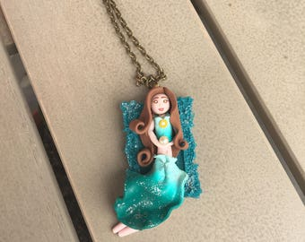 Patron of the Moon, polymer clay doll,