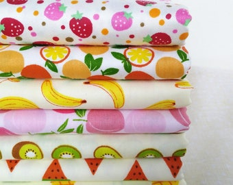 7pcs/lot 40*50cm fruit fabric fat quarter bundles fabric cotton fabric for sewing baby cloth dresses doll cloth