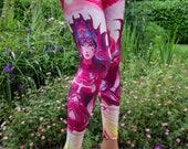 HIGH PRIEST Psychedelic Clothing Yoga Leggings Festival Clothing Pixie Leggings Hippie Clothing Sacred Geometry Yoga Pants Psytrance Rave