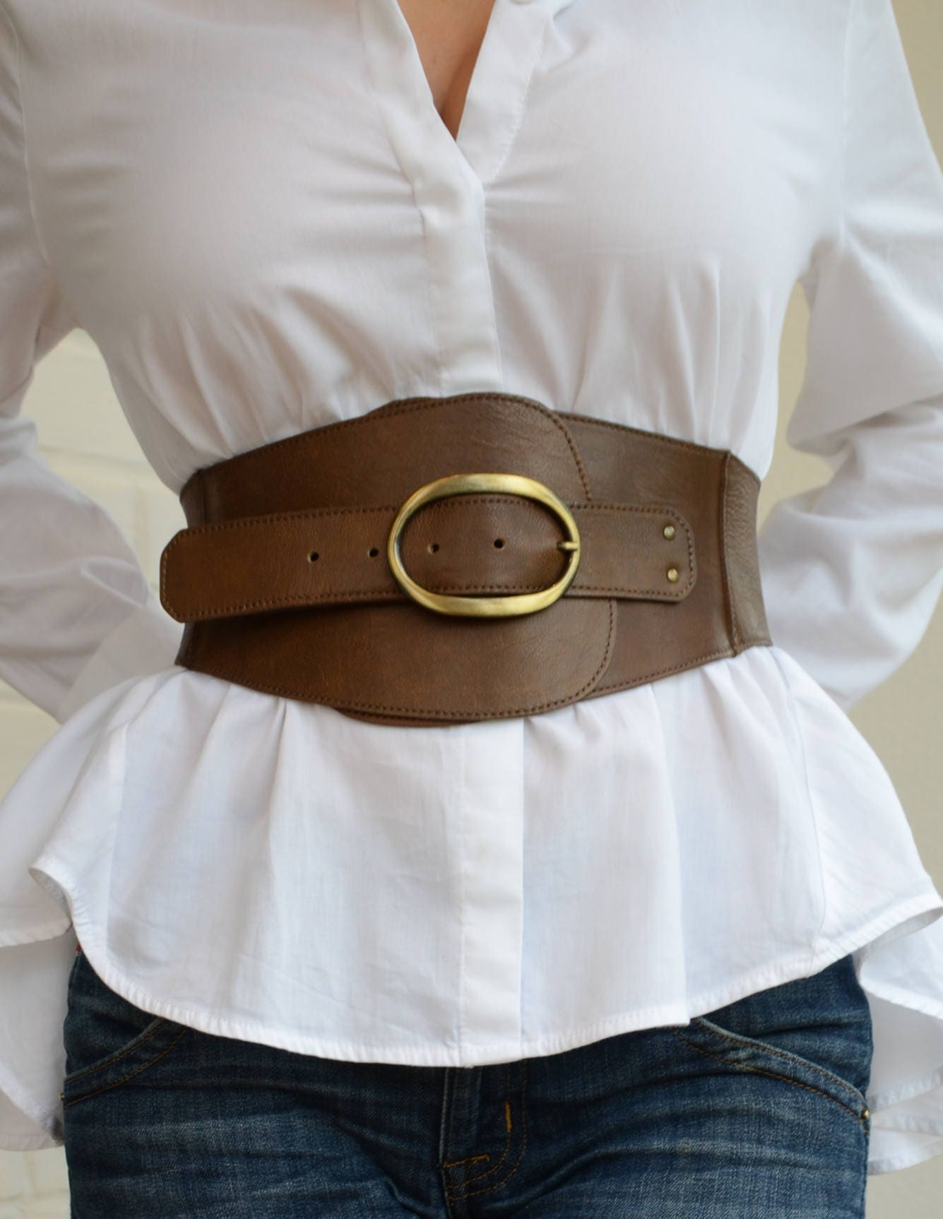 Wide Corset Belt Leather Corset Belt Womens Leather Belt Plus