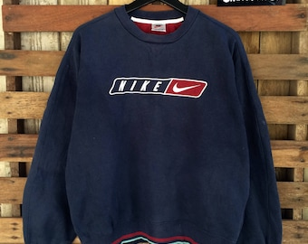 Vtg nike sweatshirt embroidery spellout !!
