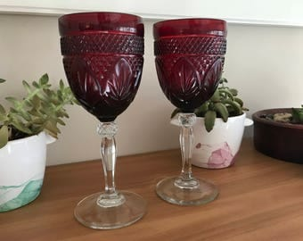 Christmas Wine Glasses - J.G. Durand, Cristal d'Arques Set of 2