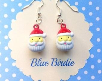 Santa Claus dangle earrings bell earrings christmas jewelry Christmas earrings jingle bell earrings Santa jewelry Santa Christmas gifts