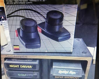 Vintage 6 Atari Games with Organizer and Paddle Controller
