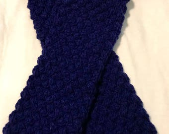 Navy Blue Basket Weave Scarf