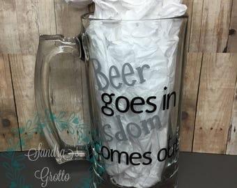 Wisdom Beer Mug
