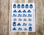 Shark week planner stickers, period tracker sticker, pms sticker, functional sticker