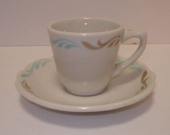 Jackson China Restaurant Ware Demitasse Cup and Saucer