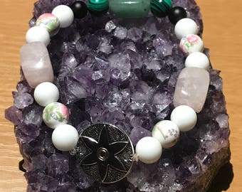 Rose Quartz & Green Aventurine Bracelet