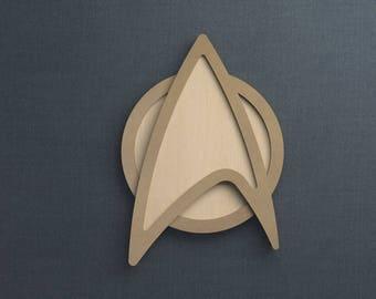 Frame Kit, Star Trek Logo, Wood Frame, Picture Frame, DIY