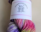 Hand dyed sock yarn superwash  New Zealand Polwarth lustre  SPRINGTIME