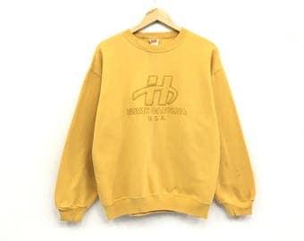 Rare!!Vintage Hanes Sweatshirt Biglogo Spellout Rare design Hanes USA product pullover Jumper