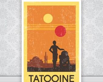 Tatooine Star Wars Poster