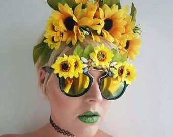 Sunflower crown, festival headdress