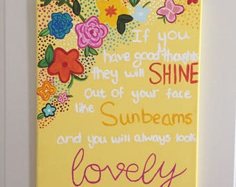 You will Always Look Lovely Floral Canvas