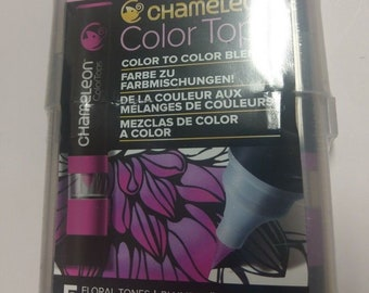Chameleon Blendable Color Tops Alcohol-Based Mixing Chambers CT4512 - Floral Tones