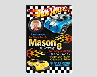 Hot Wheels Invitation,Hot Wheels Birthday Invitation,Hot Wheels Birthday,Hot Wheels Party,Hot Wheels Cars
