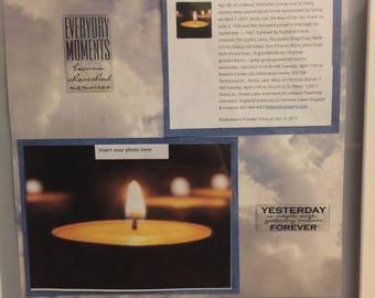Obituary memory box