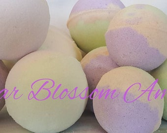 Bubba Pear Blossom and Amber Bath Bombs