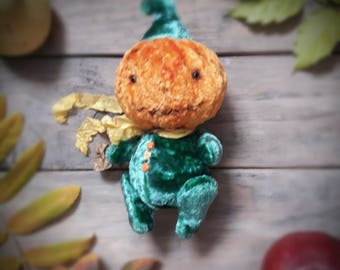 Pumpkin Halloween gift decor stuffed jointed toy