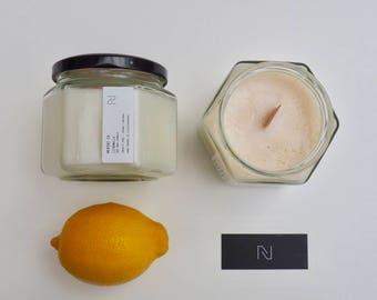Citronella Soy Wax Candle - Large (Cruelty-free)