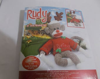 RUDY The Red Nosed SOCK MONKEY Kit