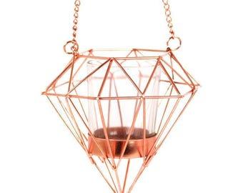 Hanging Geometric Tealight Holder