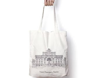 Trevi fountain, Rome tote bag