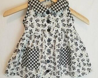 Little Girls Button up Jumper Dress - toddler size 2 or 3