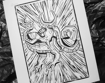 The sleeping dragon illustration art