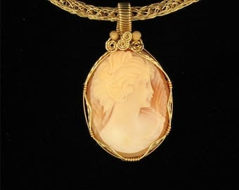 Signed Handcarved Italian Cameo