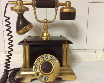 Telephone Tecler(ITALY) Rotary dial GOLD PLATED 18K