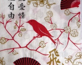 Fan bird napkin