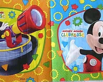 Mickey mouse club napkin