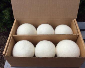 100% Natural New Zealand Wool Dryer Balls