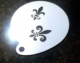 Stencil for face painting and airbrush tattoo - Fête Nationale du Québec (S1003)
